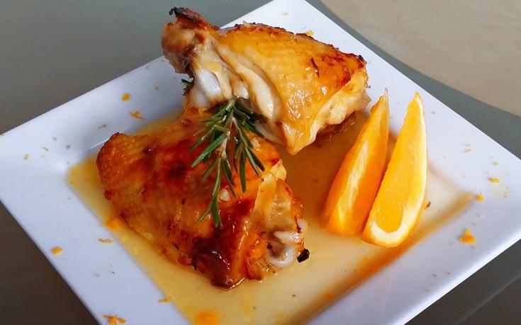 κοτόπουλο-με-σάλτσα-πορτοκάλι-και-κον