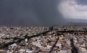 καιρός-τωρα-ισχυρές-βροχές-στην-αθήνα
